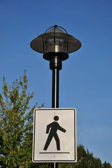 Pedestrian Sign Royalty Free Stock Photo