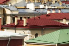 Free Metallic Roofs Different Colors Stock Images - 20787124