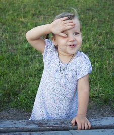Free Little Girl Outdoors Stock Photography - 20787602