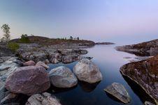 Evening In Ladoga Lake Royalty Free Stock Photos
