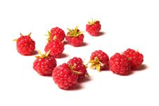 Free A Lot Of Raspberry  On White Stock Photography - 20787932