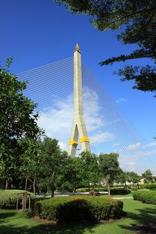 Rama VIII Bridge Stock Image