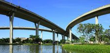 Free Panorama Bhumibol Bridge, Thailand. Royalty Free Stock Photography - 20788277