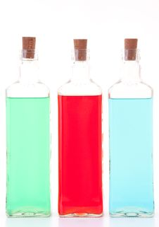 Free Three Glass Bottles Stock Images - 20788574