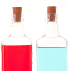 Free Two Glass Bottles Royalty Free Stock Photography - 20788577