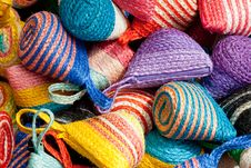Free Colorful Traditional Thai Style Basketwork Royalty Free Stock Image - 20788896