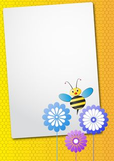 Free Bee And Flower Sheet Stock Photo - 20789680