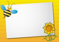 Free Bee And Sunflower Sheet Stock Photo - 20789690