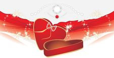 Free Holiday Red Box With Shining Strasses Royalty Free Stock Images - 20789959