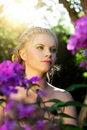 Free Girl In The Garden Royalty Free Stock Photos - 20798678