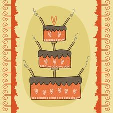 Greeting Card With Cake