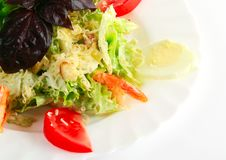 Caesar Salad With Shrimp Royalty Free Stock Image