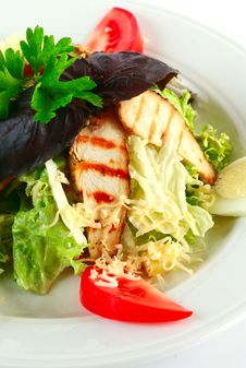 Free Caesar Salad With Chicken Royalty Free Stock Image - 20790456