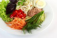Free Salad With Tuna Royalty Free Stock Photography - 20790507