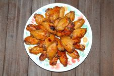 Deep Fried Chicken Wings Stock Images