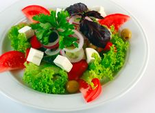 Free Greek Salad Royalty Free Stock Photography - 20790607