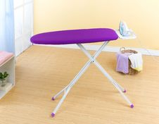 Violet Ironing Stand Royalty Free Stock Images