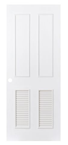 White Plain Leaf Door Stock Photography