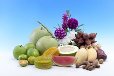 Healthy Thai Tropical Fruits Royalty Free Stock Images