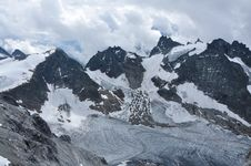 On The Top Of Mountain Titlis In Alps Royalty Free Stock Photos
