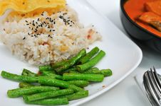Healthy Unpolished Rice Set Stock Images