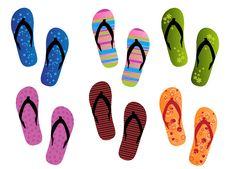 Free Flip Flops Royalty Free Stock Photos - 20791758