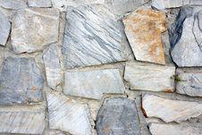 Wall Of Gray Stones Stock Photos