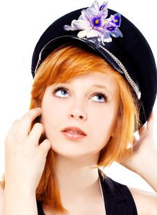 Free Beautiful Girl In A Cap Royalty Free Stock Images - 20792429