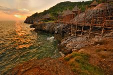 Free The Hut With Sunset At Bay Royalty Free Stock Photo - 20792625