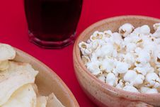 Free Poptato Chips, Pop Corn And Cola Royalty Free Stock Image - 20792926