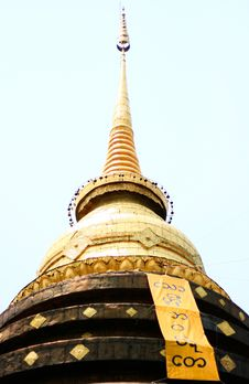 Golden Pagoda Royalty Free Stock Photos