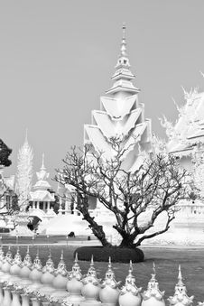 Free White Temple And Died Tree Royalty Free Stock Images - 20793789