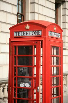 Free Red Phone Booth Stock Photography - 20793842