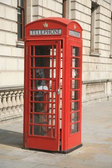Free Red Phone Booth Stock Image - 20793851