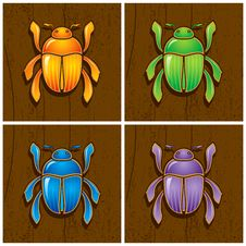 Illustrations Of Beetles Royalty Free Stock Photography