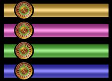 Free Roulette Banner Set Stock Images - 20794784