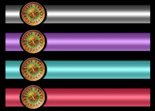 Free Roulette Banner Set Stock Image - 20794801