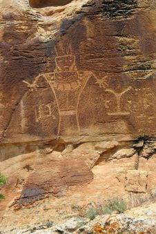 Free Original Petroglyphs In Utah Mountains Stock Images - 20794884