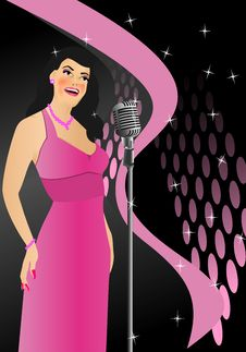 Free Singer In Retro Style, Cdr Vector Stock Photography - 20795822