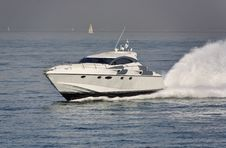 Italy, Tirrenian Sea, Luxury Yacht Rizzardi 45  Stock Images