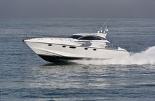 Free Italy, Tirrenian Sea, Luxury Yacht Rizzardi 45  Royalty Free Stock Photography - 20796527