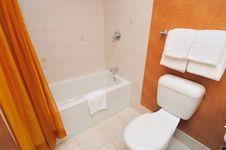 Free White Toilet And Bathtub Stock Images - 20797014