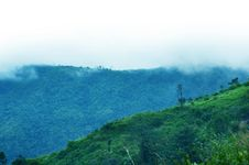 Free Mountains In A Fog. Blue Tint. Royalty Free Stock Photos - 20797208