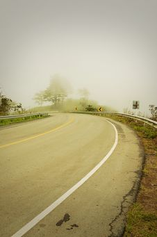 Free An Image Of A Road Covered In Fog Stock Photography - 20797332