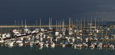 Italy, Siciliy, Mediterranean Sea, Luxury Yachts Royalty Free Stock Image