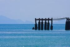 Free Samui Island Pier In Blue Sea Stock Images - 20798304