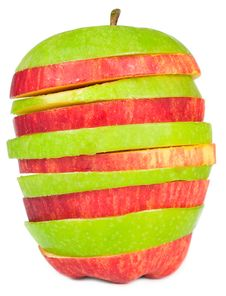 Free Sliced Red And Green Apples Royalty Free Stock Photography - 20798747
