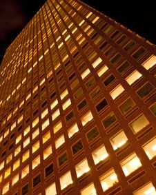 Free Denver Skyscraper At Night Royalty Free Stock Photography - 20799107