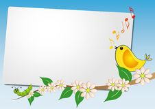 Free Sheet With Bird Song Stock Photo - 20799140