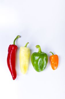 Free Different Paprika Kinds Royalty Free Stock Photography - 20799197